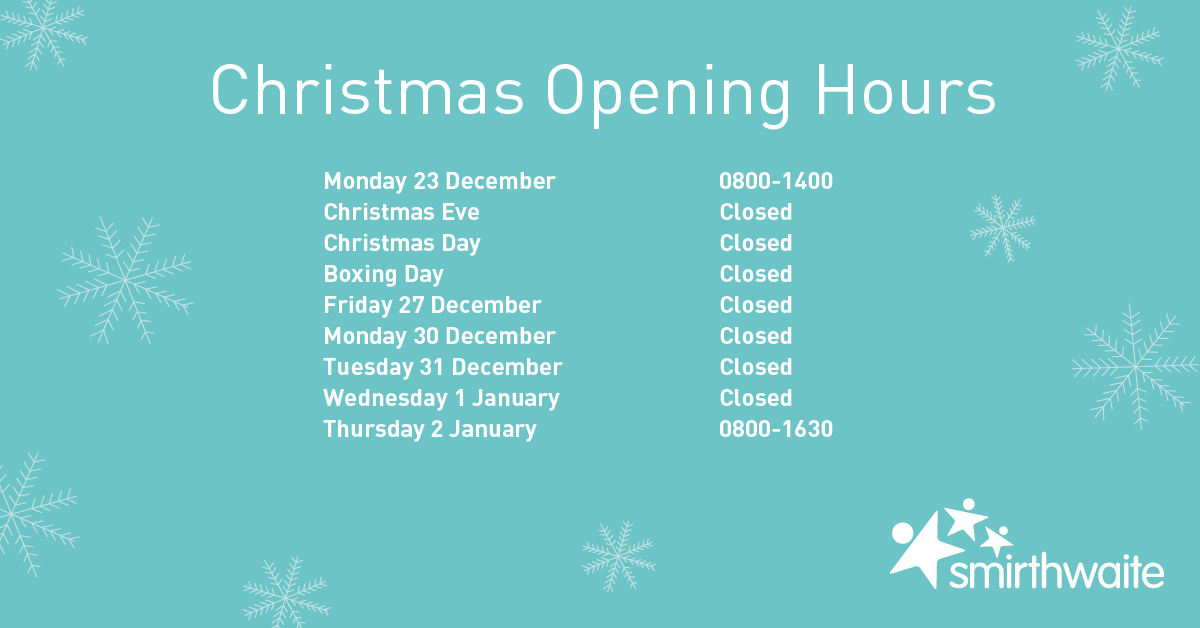 FB Christmas Opening Hours - Christmas Opening Hours