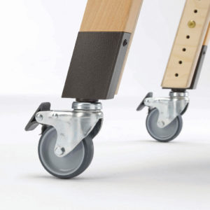 4 mobile legs with 75mm castors