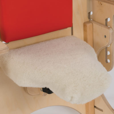 portable hip spica chair lamb skin seat cover