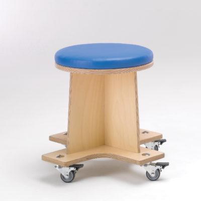 round wheely stool